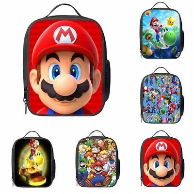 Boys Grils Super Mario School Snack Box Travel Hand Bag Insulated Lunch Bag UK • 7.79£