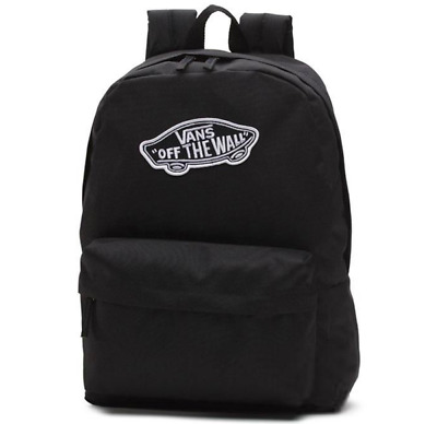 AU39.95 • Buy Vans Realm Black Backpack School Travel Sports Gym Bag Brand New With Tags