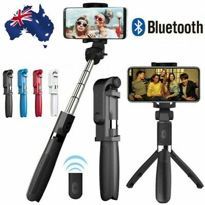 AU18.59 • Buy Multifunction Mobile Phone Tripod Universal Bluetooth Wireless Selfie Stand IOS