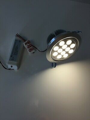 £10 • Buy  LED Ceiling Light Kit Of 1 X Warm White Downlighter With Driver (12 X 1w)