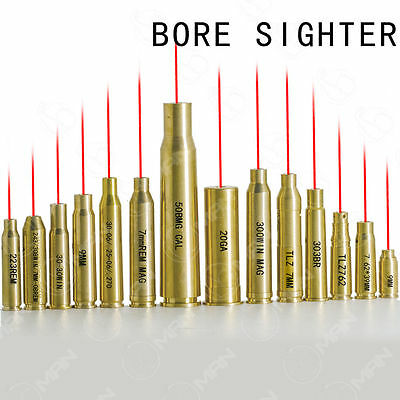 $ CDN12.04 • Buy Boresight Red Dot Laser Sight CAL Brass Bore Sighter Cartridge For Rifle Hunting