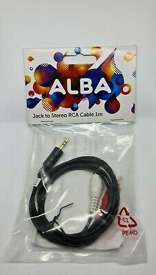 Alba 3.5mm Mini Stereo Jack To 2 X RCA Twin Phono Cable Lead • 4.99£