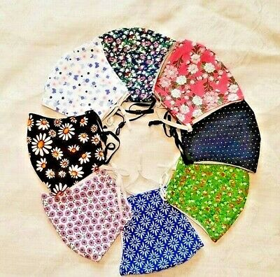 $ CDN4.99 • Buy Face Mask 100 % Cotton Washable Reusable Filter Pocket And PM2.5 Filter