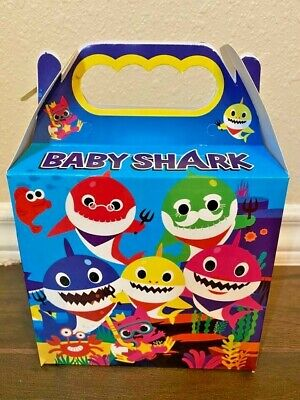 $8 • Buy 10ct Baby Shark Party Favor Treat Boxes Loot Bag Goody Treat Bag Party Favors