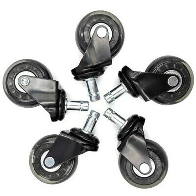 AU36 • Buy 5pc | 2'' Heavy Duty Replacement Rollerblade Rubber Desk Chair Casters