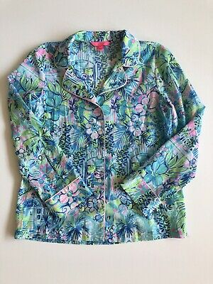 $19.99 • Buy Lilly Pulitzer PJ Woven Button Down, Lilly's House, Size Small