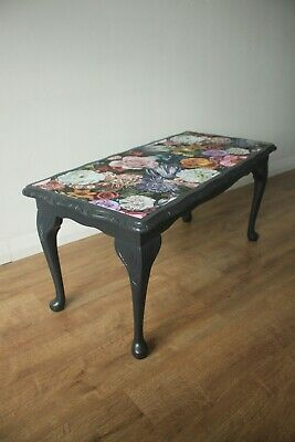 Redesigned Black Coffe Table Hand Painted • 115£