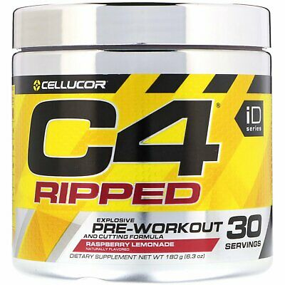 AU79.99 • Buy CELLUCOR C4 ID RIPPED PRE WORKOUT ENERGY THERMOGENIC FAT BURNER 2 Pack