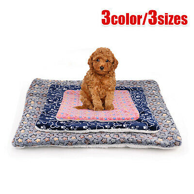 Large Indestructible Dog Bed Warm Plush Cushion Sleep Mat For Kennel Crate M-XL • 10.69£