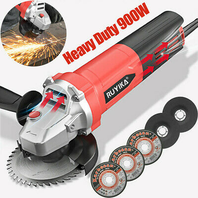 Heavy Duty 900W 115mm 4.5  Electric Angle Grinder Polisher Cutting Sanding Disc • 30.39£