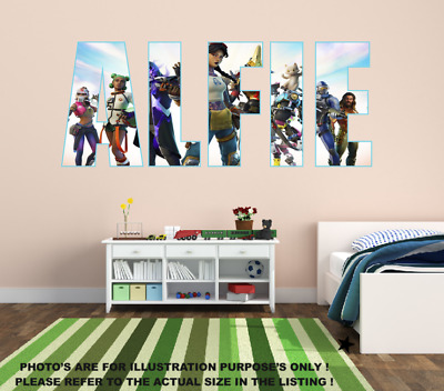 £12.99 • Buy Personalised Name Fortnite Style Stickers Decal Vinyl Wall Art Gaming - Any Name