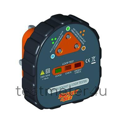 Socket & See SOK34 Earth Loop Socket Tester • 38.34£