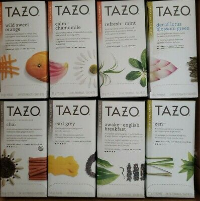 Tazo Tea Bags Box Of 16 -24 Filters Pack Total Of 384 Delicious Flavors  • 84.70£