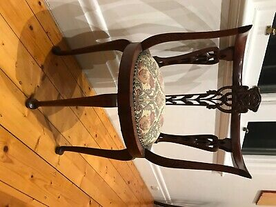 AU300 • Buy Antique Blackwood Corner Chair. Re Upholstered Seat. Mint Condition