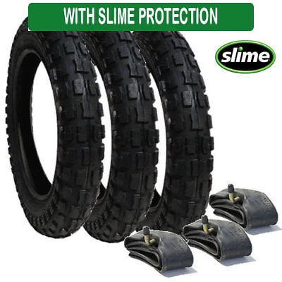 £39.95 • Buy Quinny Freestyle Tyre And Inner Tube Set (x3) Heavy Duty With Slime Protection