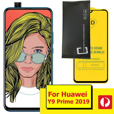 AU7.99 • Buy For Huawei Y9 Prime 2019 Black Border Screen Protector For Huawei Y9 Prime 2019