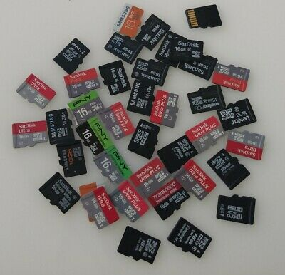 $5.25 • Buy  16gb  Micro SD Card  Mixed Brands Sandisk,samsung Pny For Phone/camera