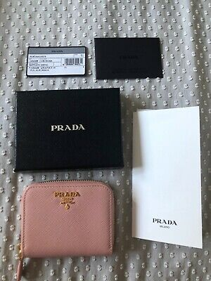 Genuine Prada Saffiano Pink Leather Coin Purse  • 110£