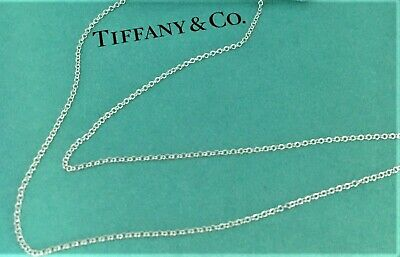 $34.99 • Buy Tiffany & Co. Sterling Silver 925 Elsa Peretti Link Chain Necklace 15in Vintage
