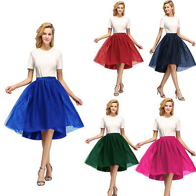 5 Layers A-Line Women's Petticoat Skirt Tutu Underskirt For Wedding Party Prom • 8.99£