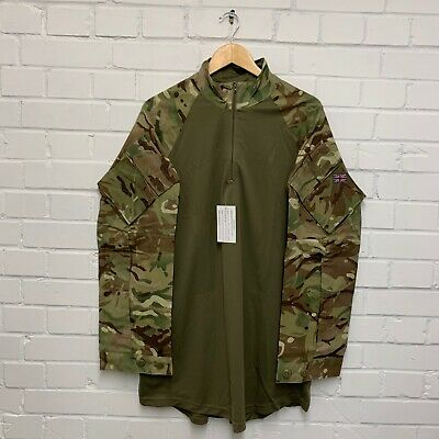MTP CAMO & OLIVE LONG SLEEVE ARMOUR COMBAT SHIRT - Sizes , British Army NEW • 24£