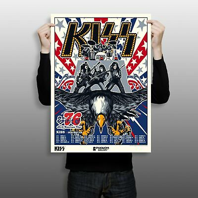 $60 • Buy KISS Spirit Of '76 North American Tour 18  X 24  Limited Edition Serigraph Print
