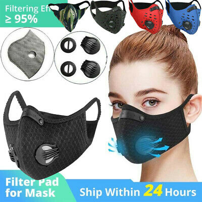 $ CDN22.52 • Buy W/ Breath Valves & Reusable Sport Face Protection Cover & 3/4/5Layer Filter Pads
