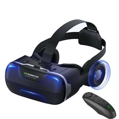 AU74.99 • Buy Shinecon VR 4.0 Virtual Reality 3D Glasses BOX Movie Game With Headphone Headset