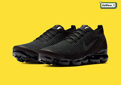 $168 • Buy NIKE AIR VaporMax Flyknit 3 Black Running Shoes - Movement - Fitness - 2019