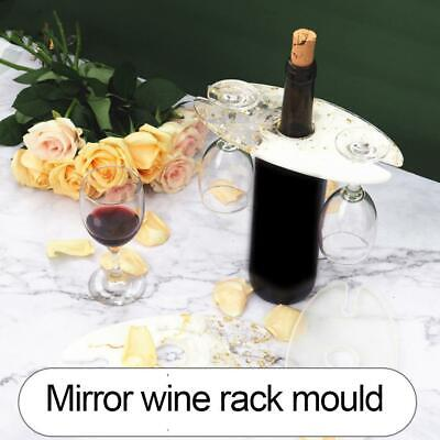 $3.98 • Buy Wine Rack Cup Holder Resin Mold Red Glass Tray Epoxy Resin Mold Bottle Mold