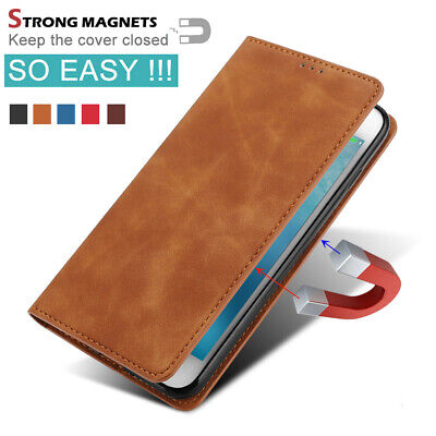 $ CDN9.32 • Buy For Samsung Galaxy S9 S8 Plus S7 S6 Magnetic Leather Case Flip Wallet Cover