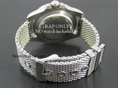 STEEL SHARK MESH WATCH STRAP BRACELET FOR OMEGA SPEEDMASTER SEAMASTER 20mm WATCH • 39.99£