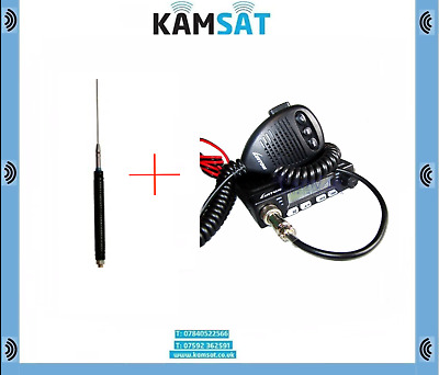 Cb Radio Kit Luiton Lt-198 Sq/asq Am/fm Switch And Mini Meteor Mobile Cb Antenna • 52.99£