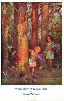 Early MARGARET TARRANT  There Must Be Fairies Here Fairy Fantasy  Postcard • 4£