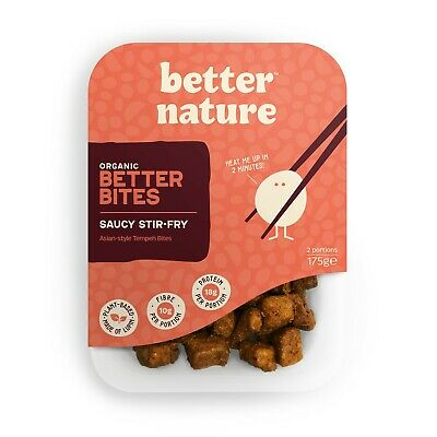 Better Nature - Marinated Tempeh Bites, Saucy Stir-Fry 175g (4 Pack) • 18.99£