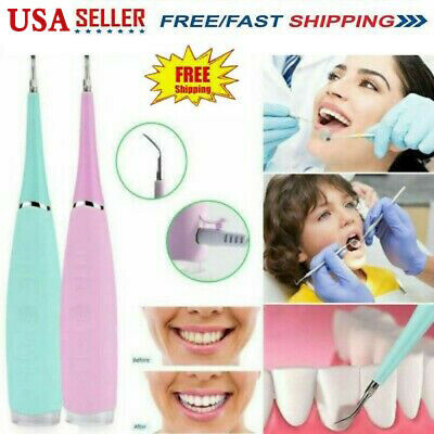 $14.49 • Buy Electric Ultrasonic Dental Scaler Tooth Stains Tartar Cleaner Teeth Whiten USA