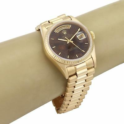 $ CDN17940.99 • Buy Rolex Oyster Perpetual Automatic Day Date Wood Dial 18k YGold Mens Watch 18038