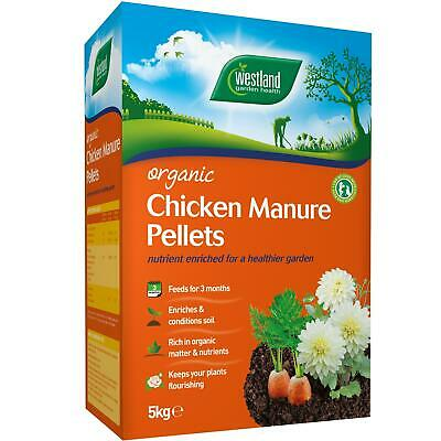 Westland Organic Chicken Manure Pellets, Slow Release Enriched Compost Feed, 5kg • 9.77£