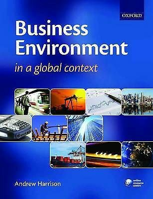Business Environment In A Global Context By Harrison, Andrew Paperback Book The • 4£