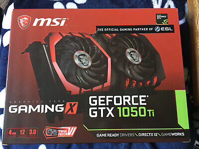 $ CDN122.18 • Buy MSI GeForce GTX 1050 Ti GAMING X 4G Graphics Card