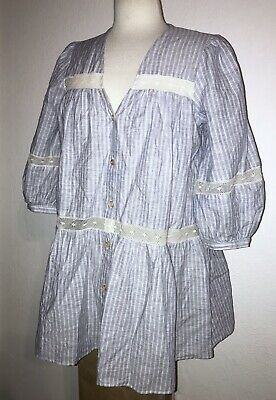 £20.13 • Buy NWT ZARA Blue & White Striped Lace Button Maternity Blouse Top Shirt S / $49.90