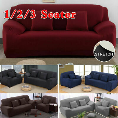 AU19.99 • Buy Sofa Cover 1 2 3 Seater Stretch Couch Lounge Recliner Chair Slipcover Protector