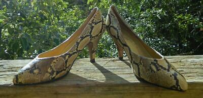 AU125 • Buy VINTAGE Ruk Bootery 1950s Original Rare Couture Snake Skin Leather Heels 5 B
