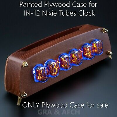 Painted Plywood Case For IN-12 Nixie Tubes Clock [GRA&AFCH] • 72.32£