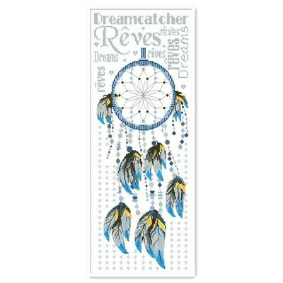 DREAMCATCHER COUNTED CROSS STITCH KIT 18 COUNT AIDA FINISHED SIZE 21x46CM • 12.99£