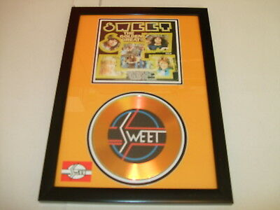 Sweet   Signed  Gold Cd  Disc   • 19.98£