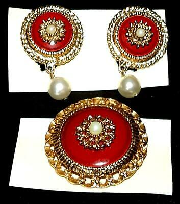 $37.95 • Buy Vintage Sarah Coventry Jewelry WESTMINISTER ROUND PIN CLIP-ON EARRINGS SET