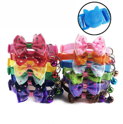 Safety Break-away Quick Release Safe Collar Bowknot Bow Bell Tie Cat UK • 2.99£