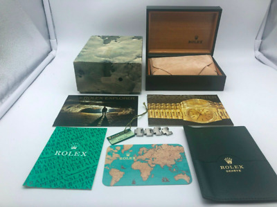 $ CDN298.02 • Buy VINTAGE GENUINE ROLEX EXPLORER 16570 Watch Box Case Booklet 68.00.2 0307005m