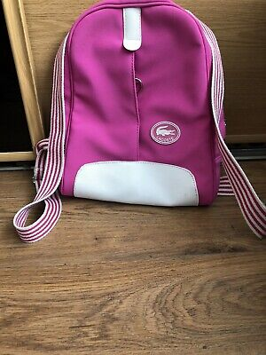 Lacoste Rucksack Pink And White • 25£